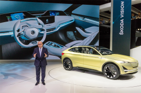 Škoda launched Karoq and Vision E study