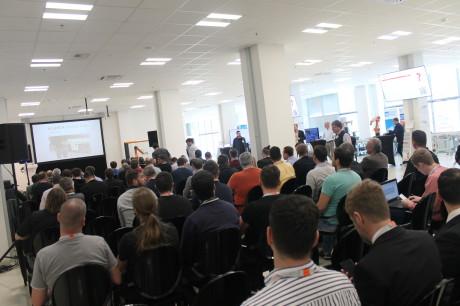 Akce se konala v nové budově Českého institutu informatiky, robotiky a kybernetiky ČVUT