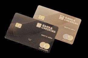 Karta ze zlata od Banky CREDITAS získala světovou cenu