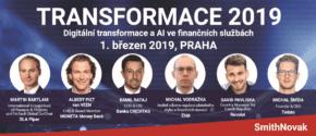 Transformace 2019: finanční služby vs. čtvrtá průmyslová revoluce