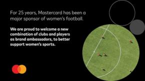 Mastercard podporuje ženský fotbal