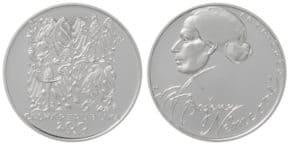 Stříbrná mince k 200. výročí narození Boženy Němcové