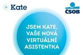 Seznamte se s Kate, digitální asistentkou ČSOB